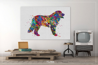 Bernese Mountain Dog Watercolor Print Personelized Memorial Gift Pet Berner Dog Doglover Gift Pet Animal Mountain Dog Poster Dog Art-1594 - CocoMilla