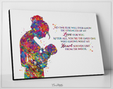 Motherhood Quote Watercolor Print Mother and Baby Midwifery Gift Boy Girl Family with Kids Motherhood New Mum Baby Shower Obstetrician-1583 - CocoMilla