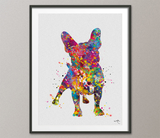 French Bulldog Watercolor Dog Print Frenchie art print Bouledogue Francais Art Gift Pet Dog Love Friend Animal Doglover Poster Dog Art-1525 - CocoMilla