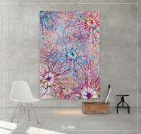 Synaptic Network Watercolor Print Medical Art Science Neurology Brain Psychiatry CANVAS Art Doctor Office Clinic Decor Neural Synapses-1251 - CocoMilla