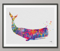 Whale Sea Life Watercolor illustrations Art Print Wall Art Poster Giclee Wall Decor Art Home Decor Wall Hanging No 245 - CocoMilla