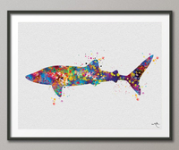 Whale Shark Art Watercolor Print Fish Decor Sea Life Art Print Sea Decor Wall Art Poster Coastal Wall Decor Art Home Decor Wall Hanging-981 - CocoMilla
