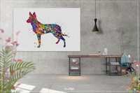 Dutch Shepherd Dog Watercolor Dog Print Dog Gift Pet Dog Love Puppy Friend Police Dog Animal Dog Poster Dog Art Wall Hanging Wall Decor-1280 - CocoMilla