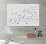 Vasopressin Molecular Structure Watercolor Print Medical Art Antidiuretic ADH Hormone Wall Art Nerd Science Chemistry Laboratary Decor-1426 - CocoMilla