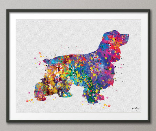 Cocker Spaniel Dog Watercolor Dog Print Cocker Gift Pet Dog Love Puppy Friend Animal Dog Pet Art Dogart Cocker Spaniel Poster Dog Art-635 - CocoMilla
