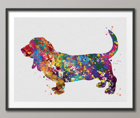 Basset Hound Dog Watercolor Dog Print Basset Hound Pet Dog Love Puppy Friend Animal Dog Pet Art Dogart Basset Hound Poster Dog Art-1443 - CocoMilla
