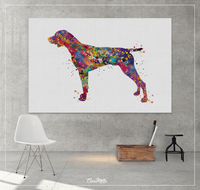 German Shorthaired Pointer Watercolor Print Dog Art print German Pointer Dog Art Gift Pet Dog Love Friend Animal Dog Painting Dog Poster-340 - CocoMilla