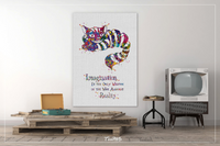 Cheshire Cat Motivational Quote Alice in Wonderland Watercolor Print Print Nursery For Kids Wall Art Art Home Decor Wall Hanging [NO 593] - CocoMilla