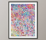 Neural Connections Watercolor Print Abstract Medical Art Science Neurology Brain Psychiatry Therapy Art Doctor Poster Neuron Synapses-1385 - CocoMilla