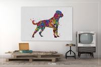 Rottweiler Dog Watercolor Dog Print Rottweiler Poster Gift Pet Dog Love Puppy Friend Animal Dog Poster Dog Art-1398 - CocoMilla