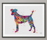 Jack Russell Dog Watercolor Print Jack Russell Terrier Gift Pet Dog Love Puppy Friend Animal Dog Dogart Poster Dog Art Terrier Art-1163 - CocoMilla