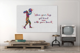 Basketball Girl Quote Watercolor Print Female Woman Basketball Player Gift Sport Wall Art Kids Gift Nursery Afro Decor Wall Hanging-1536 - CocoMilla