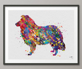Collie Dog Watercolor Print Dog Lovers Gift Dog Collie Art Print Dog Lover Dog Art Dog Wall Art Wall Decor Art Home Decor Wall Hanging-412 - CocoMilla