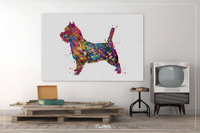 Cairn Terrier Dog Watercolor Print Dog Print Custom Dog Print Cute Dog Art Nursery Dog Wall Doglover Art Cairn Terrier Pet Poster Puppy-1524 - CocoMilla