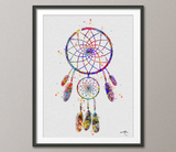 Dreamcatcher Art Watercolor Print Wedding Gift Archival Fine Art Print Children's Wall Art Wall Decor Art Home Decor Wall Hanging No 347 - CocoMilla