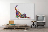 Stretching Cat Watercolor Print Cat Lover Wall Art Wall Decor Cat Mom Home Decor Kitty Cat Painting Kitten Housewarming Wall Hanging-1610 - CocoMilla