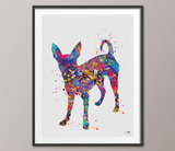 Chihuahua Dog Watercolor Dog Print Chihuahua Poster Gift Pet Dog Love Puppy Friend Animal Dog Poster Pet Decor Animal Art Dog Art [NO 784] - CocoMilla