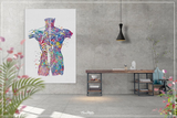 Muscles of Back Watercolor Print Human Anatomy Medical Art Science Art Orthopedic Surgery Skeleton Print Chiropractor Clinic Office Art-1343 - CocoMilla