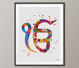 Ek Onkar Art Watercolor Print Poster Wall Decor Art Khanda Symbol Sikh ik onkar Wedding Gift Sikhism Sikh Gift Home Decor Wall Hanging-1256 - CocoMilla