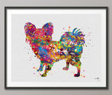 Papillon Dog Art Watercolor Dog Print Pet Gift Pet Dog Love Friend Dog Papillon Dog Puppy Gift Dog Art Wall Art Doglovers Gift Dog Print-410 - CocoMilla