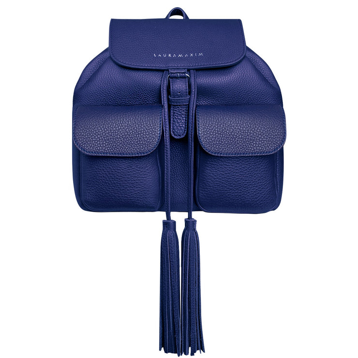 Ink blue Fringe backpack