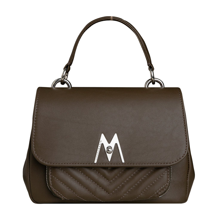Dark khaki Belle bag mini