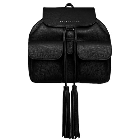 All Black Fringe backpack