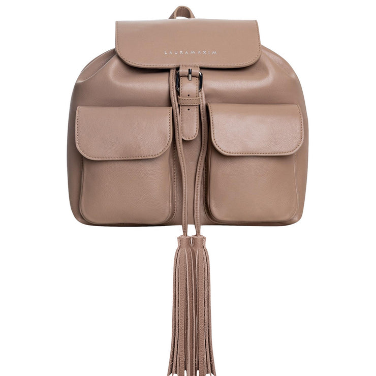 Cappuccino Rose Fringe backpack
