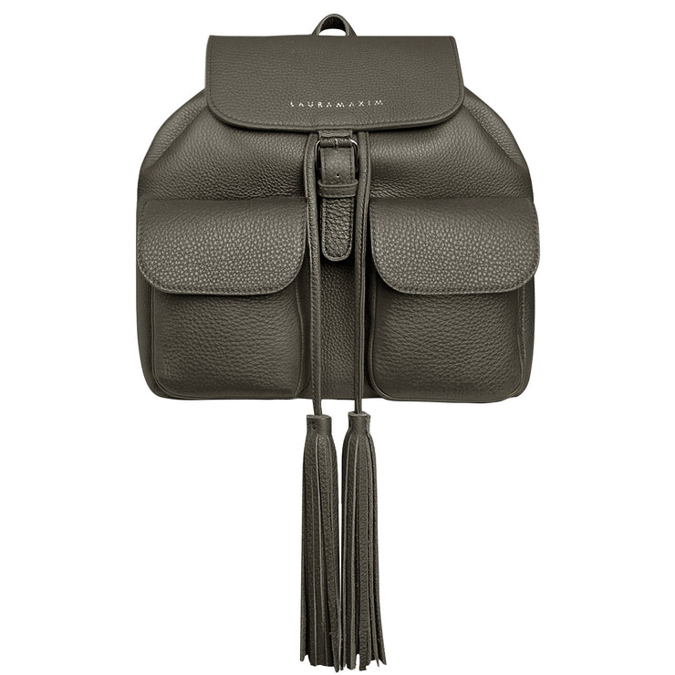 Khaki Fringe backpack