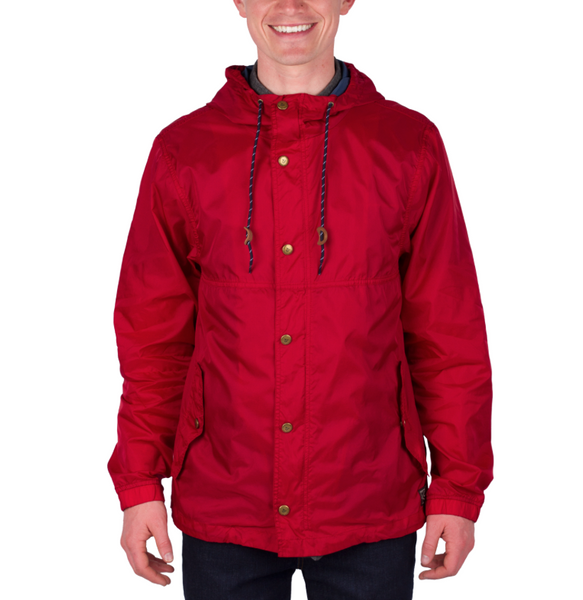 ef0c4abb9480 WILDER & SONS GALES PACKABLE WIND JACKET (RED) - BOULDER&WAVE