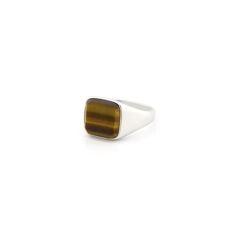 Tigers Eye Signet Ring