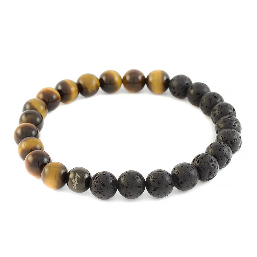 Tiger Eye x Lava Rock Bracelet