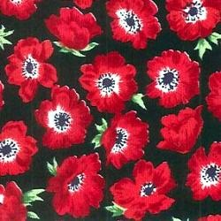 Poppies on Black Cotton