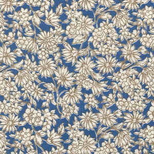 Delft Blue Floral Cotton