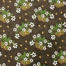 Coffee Floral Cotton