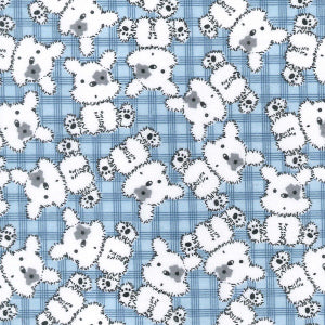 Bears on Blue Cotton