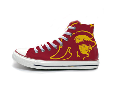 Trojans Head Distressed (Gold) Chucks