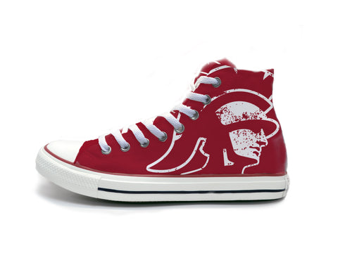 Trojans Head Distressed (White) Chucks