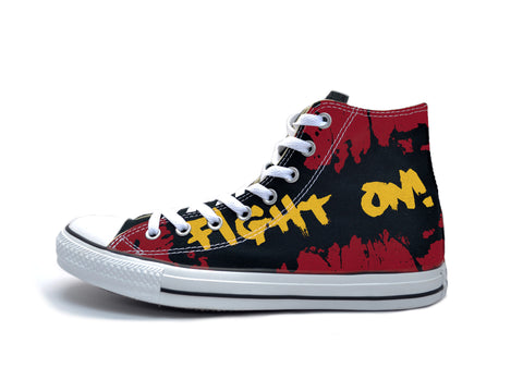 """Fight On"" Paint Splatter #2 Chucks"