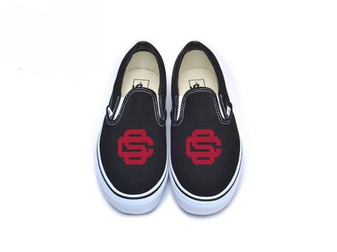 Interlocking SC Vans - Cardinal on Black