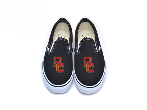 SC Interlock Sport Vans - Cardinal w/ Border Black