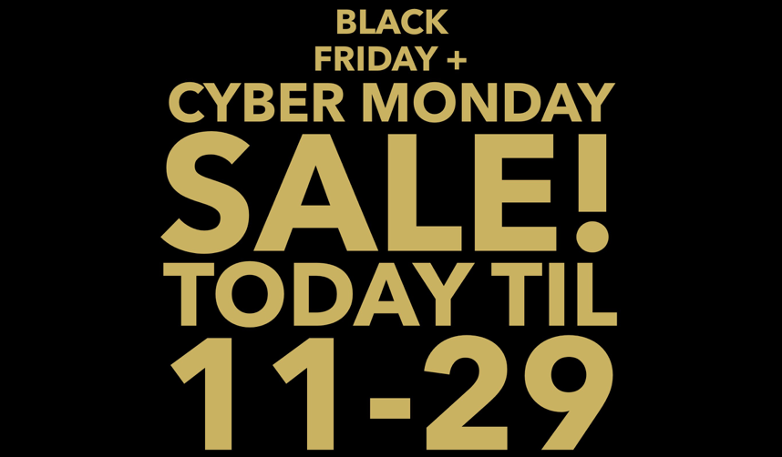 Black Friday + Cyber Monday Sale Happening Meow