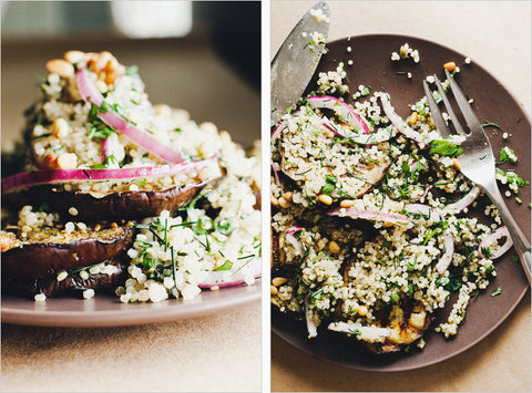 Grilled Eggplant with Herbed Quinoa