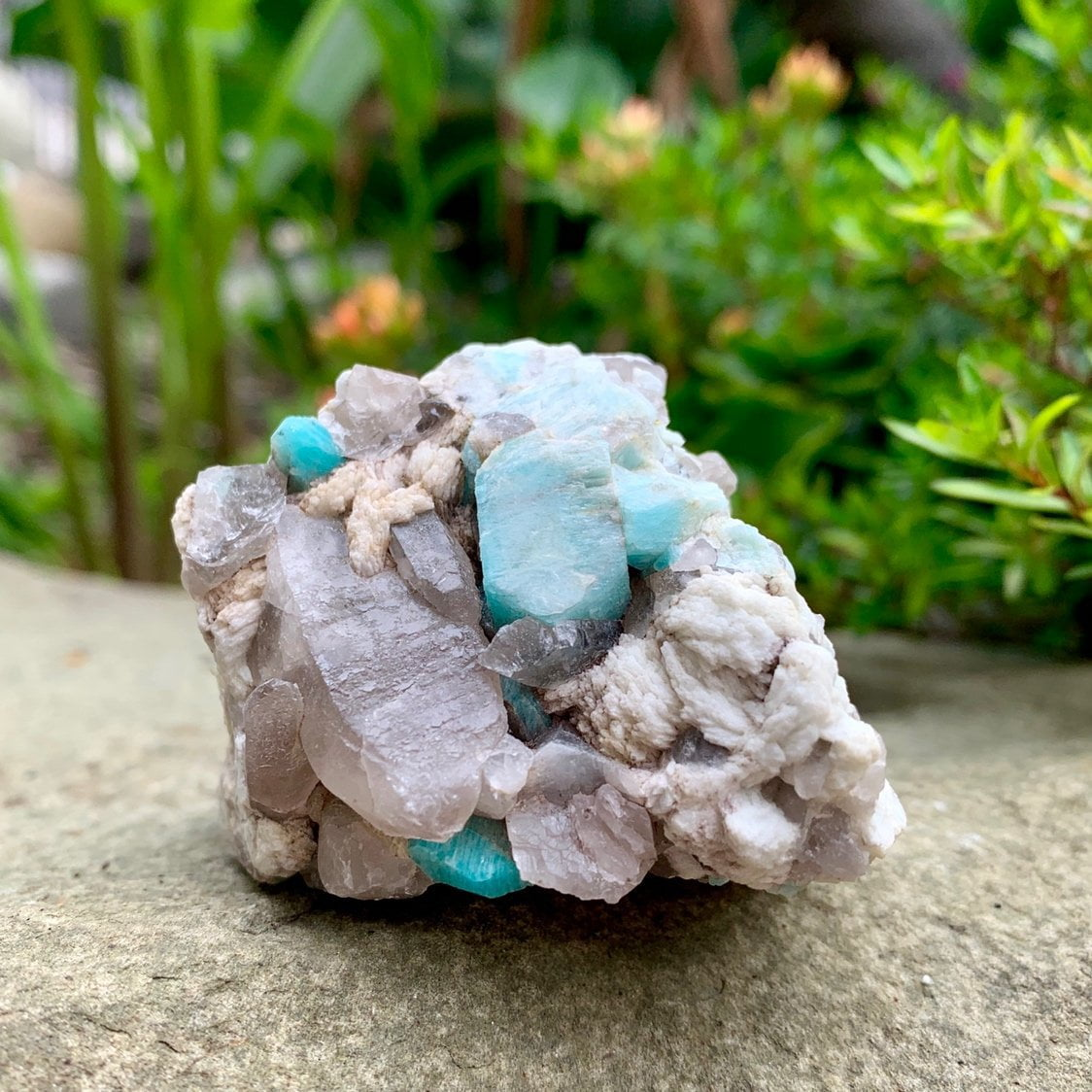 Amazonite and Smoky Quartz - Sparkle Rock Pop