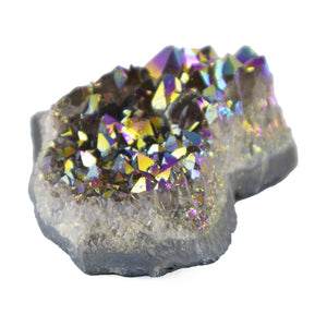 Rainbow Aura Amethyst Crystal Cluster - Sparkle Rock Pop