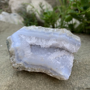 "Blue Lace Agate (Chalcedony) - 4"" - Sparkle Rock Pop"