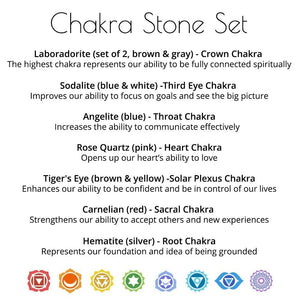Chakra Gemstone Set - Sparkle Rock Pop