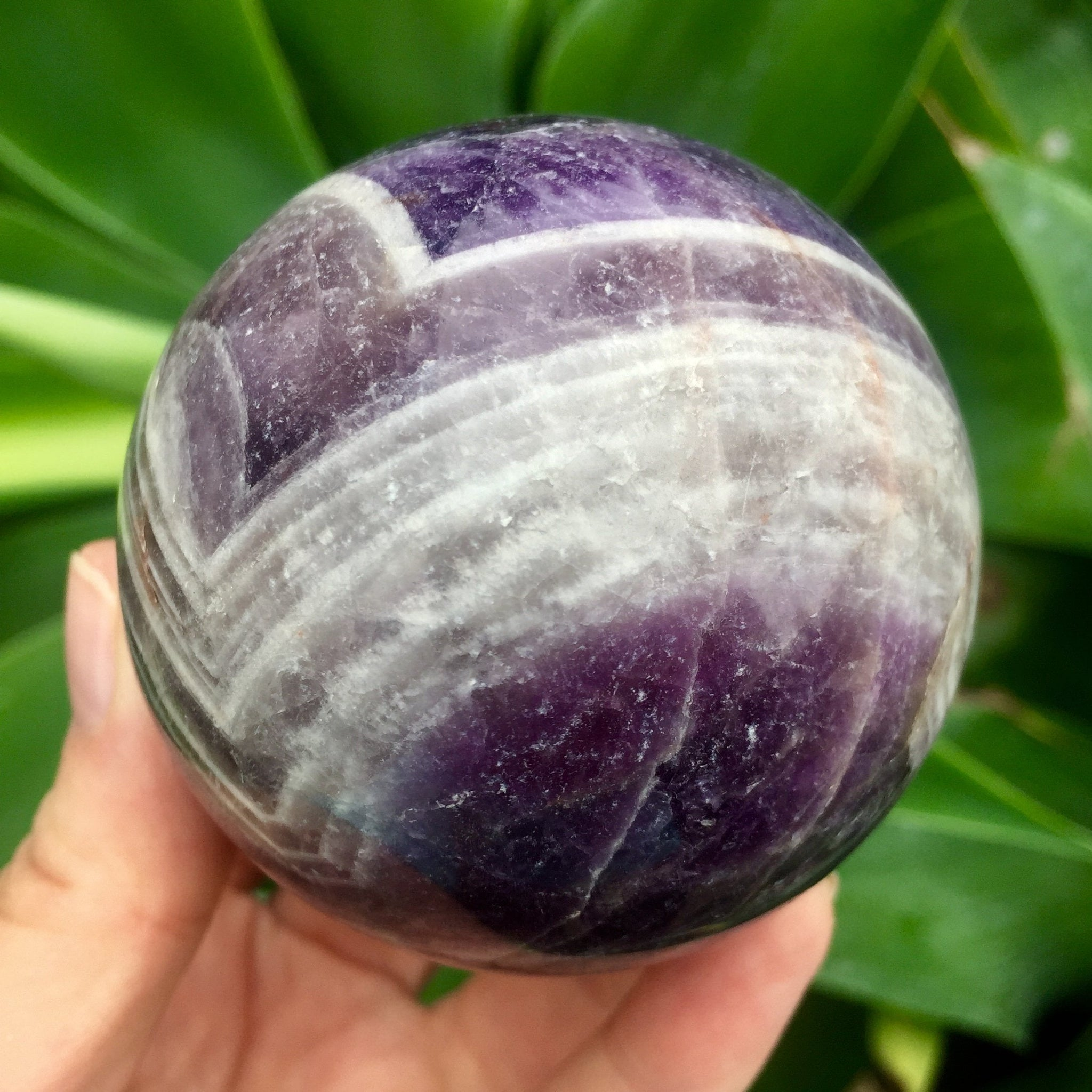 Chevron Amethyst Sphere - Sparkle Rock Pop