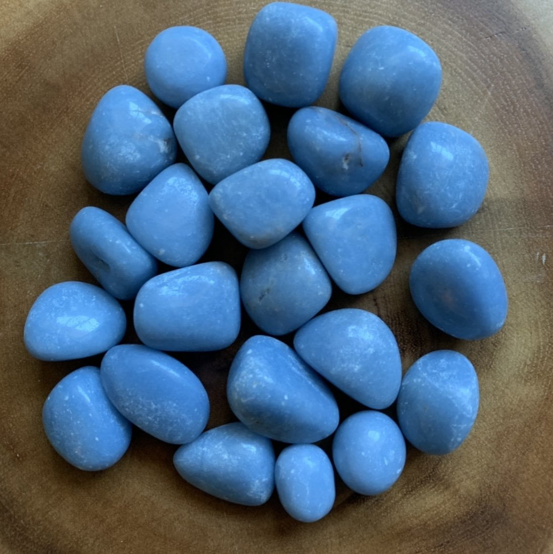 Angelite Tumble Stones - 13 stones, 1 lb - Sparkle Rock Pop