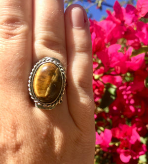 Tiger Eye Crystal Ring - Sparkle Rock Pop